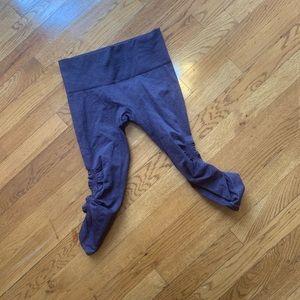 Lululemon purple in the flow ruched leggings